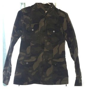 Abercrombie and Fitch S Utility Jacket Camouflage